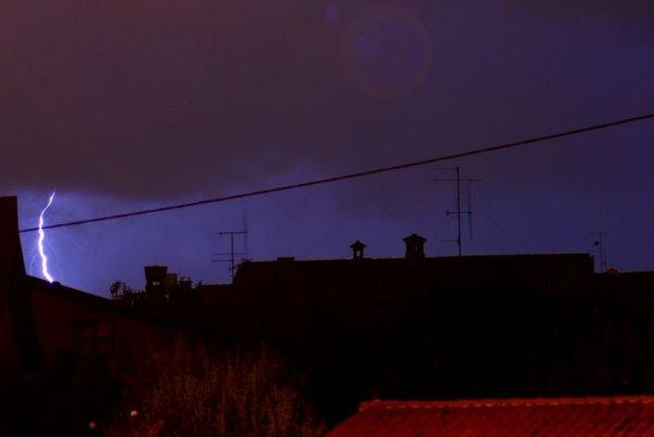 Nevihta nad Novo Gorico