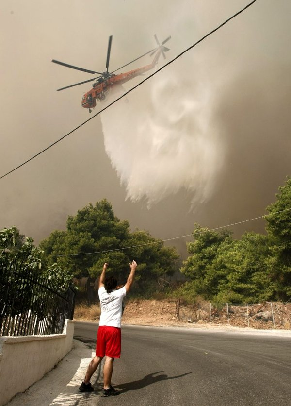 Požar v Grčiji-2