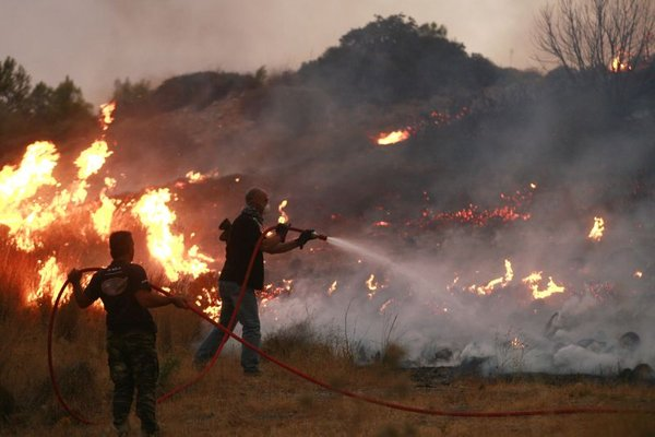 požari v Grčiji
