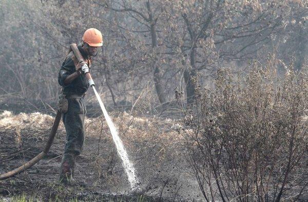 Gašenje požara v okolici Moskve
