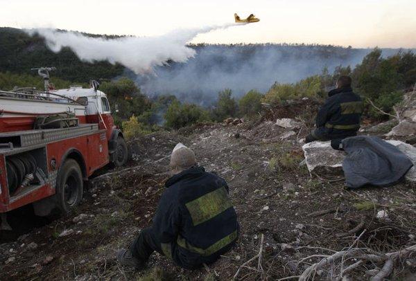 Gašenje požara v Izraelu