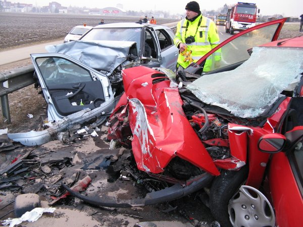Nesreča na cesti Kranj - Naklo - 2
