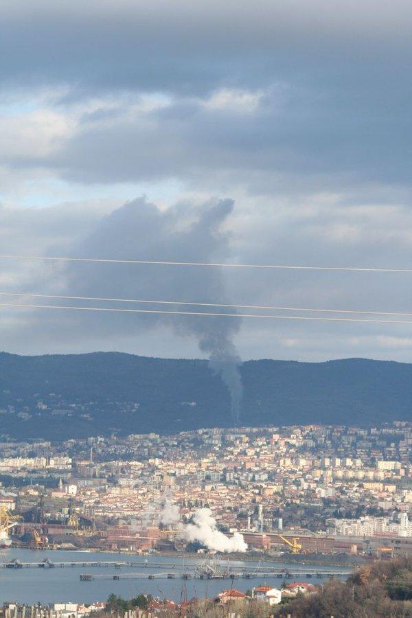 Požar v Trstu