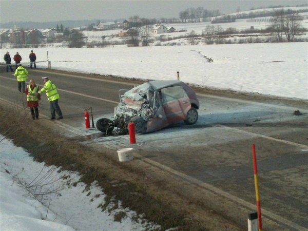 Nesreča na dolenjski hitri cesti-4