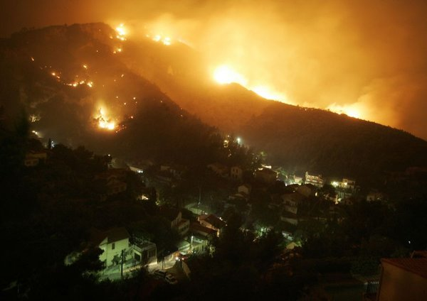 Požar v bližini Marseilla