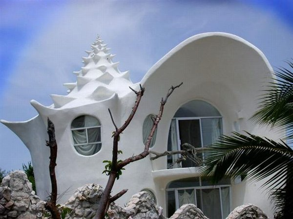Hiša školjka na Isli de Mujeres
