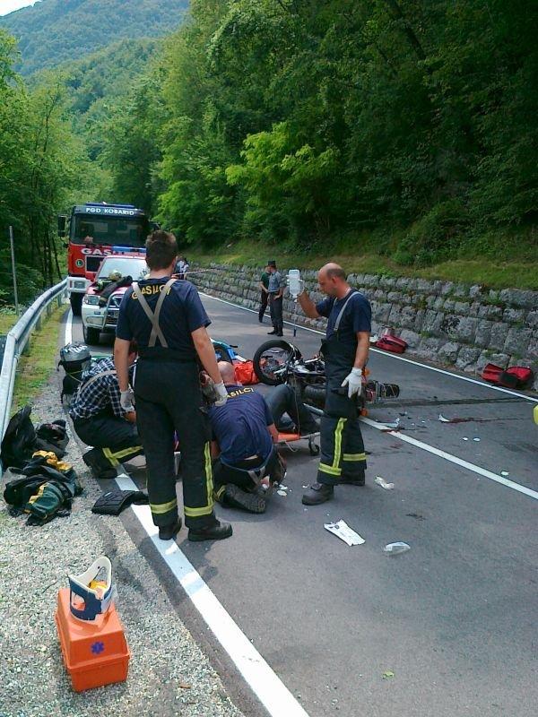 Nesreča motoristov pri Kobaridu