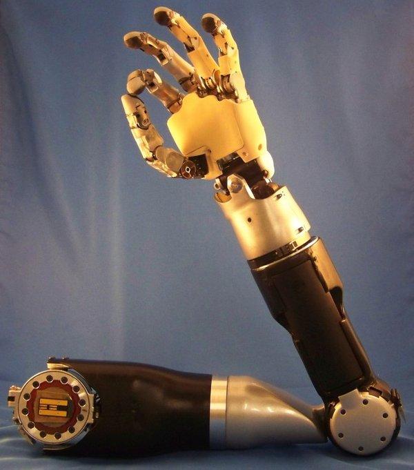 Umetna roka, ki jo oseba nadzoruje z mislimi. (Foto: wikimedia.com)