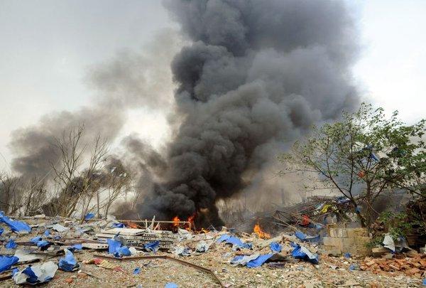 Eksplozija v tovarni na Kitajskem