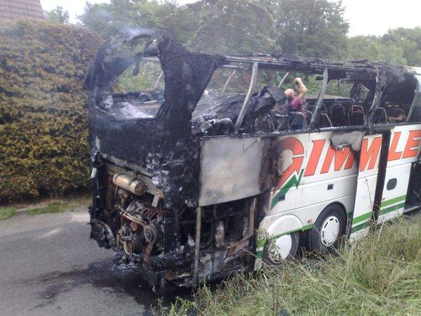 Zgorel avtobus z nemškimi turisti