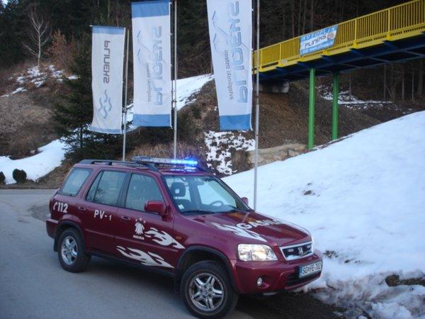 Gasilski avto na avtoplin