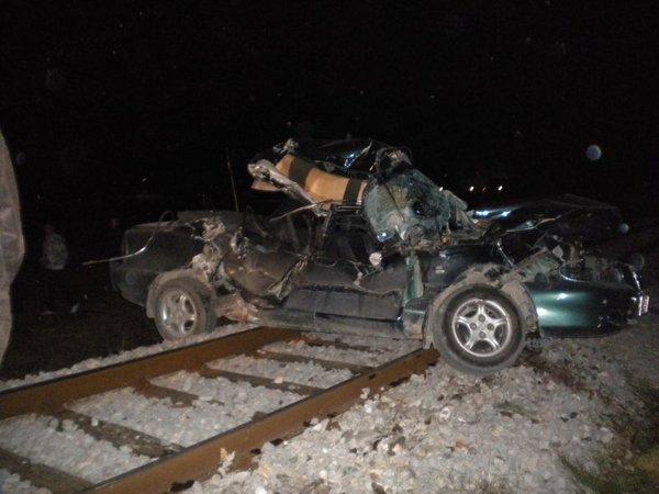 Trčenje tovornega vlaka in osebnega vozila v Celju-2