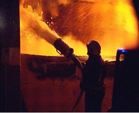 Požar v trgovskem centru Getro v Osijeku