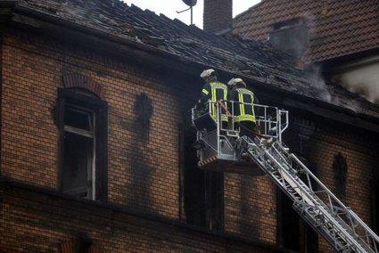 Požar v mestu Ludwigshafen