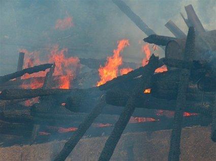 Posledice požara v Kumni pri Rušah