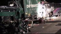 Nesreča avtobusa in dveh tovornjakov-9