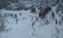 Snežni plaz na Raduhi