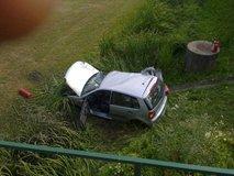 Nesreča avtomobila in vlaka pri Novem mestu