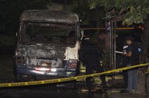 Zažgan avtobus v San Salvadorju