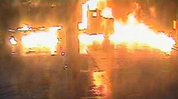 Eksplozija cisterne na bencinski črpalki
