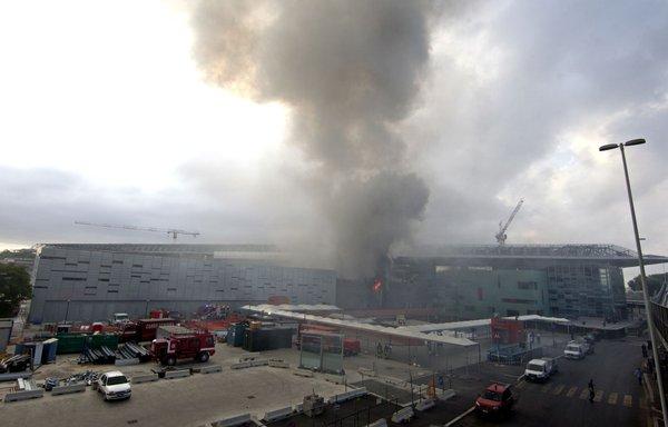 Požar na železniški postaji