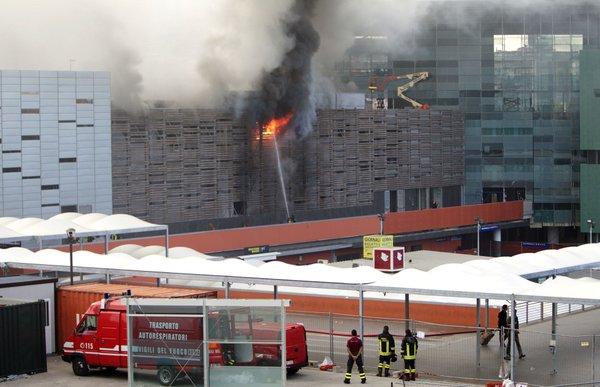 Požar na italijanski železniški postaji