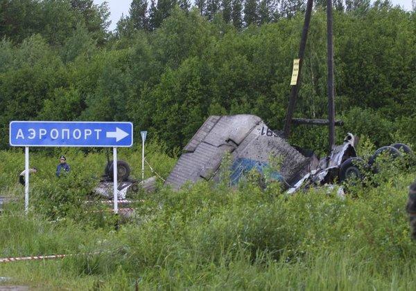 Strmoglavljenje letala v Rusiji
