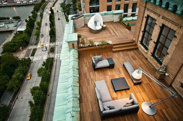 Lesena terasa v New Yorku - 2