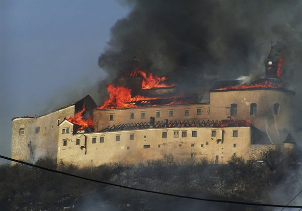 Požar na gradu Krasna Horka
