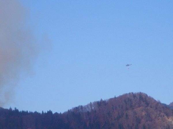 Požar v naselju Trebež pri Koroški Beli - 2