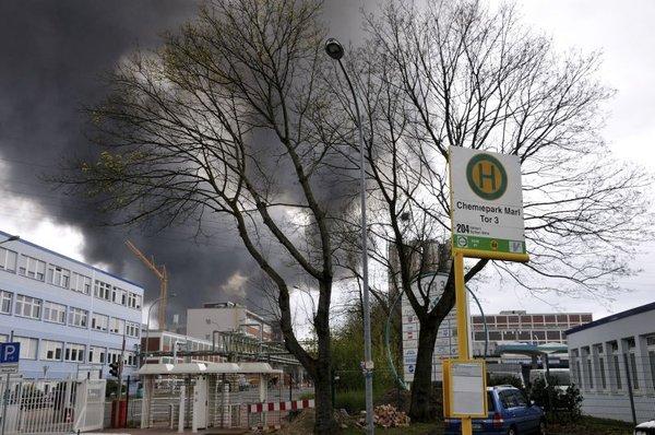 eksplozija v kemični tovarni