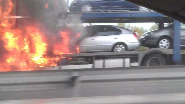 Požar na avtocesti