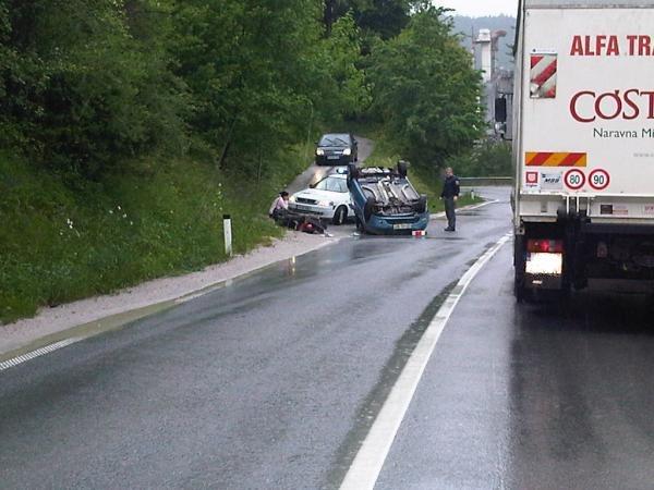 Nesreča na regionalni cesti Arja vas-Velenje
