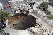 Vdrta tla v Guatemala Cityju